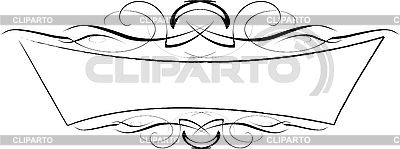 Black and white ornamental frame | Stock Vector Graphics |ID 3122029