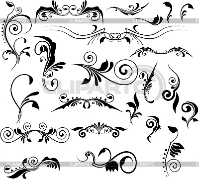 Set of floral pinstripes   Stock Vector Graphics  ID 3148418
