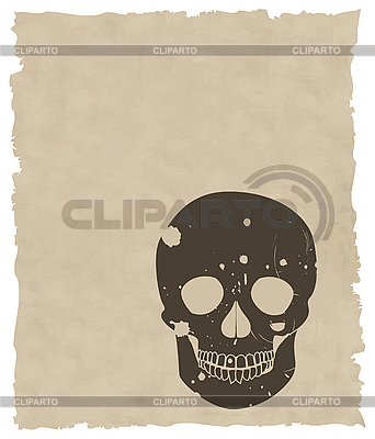 Brown grunge skull on old paper   Stock Vector Graphics  ID 3161678