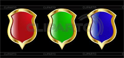 Das Set, rot, blau und grünen Schild | Stock Vektorgrafik |ID 3200358