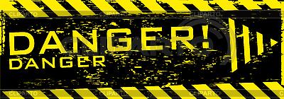グランジ危険バナー | ベクターイラスト |ID 3200454