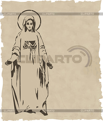 Virgin Mary statue silhouette | Stock Vector Graphics |ID 3215047
