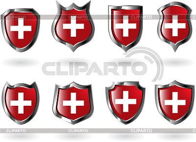 Set of red shields | Stock Vector Graphics |ID 3215334