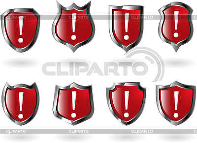 Set of red shields | Stock Vector Graphics |ID 3215336