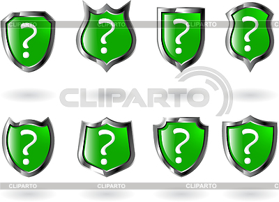 Set green shield   Stock Vector Graphics  ID 3215338