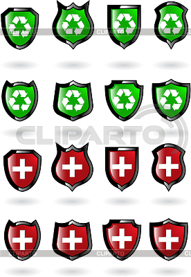 Set of shields | Stock Vector Graphics |ID 3216708