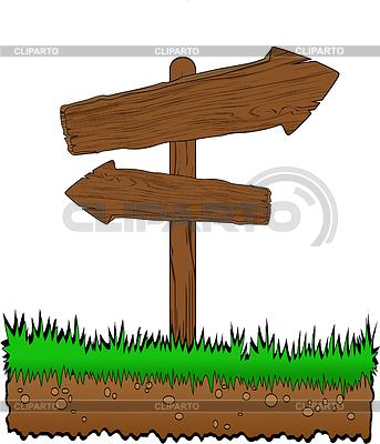 Wooden arrow on grass | Stock Vector Graphics |ID 3217632
