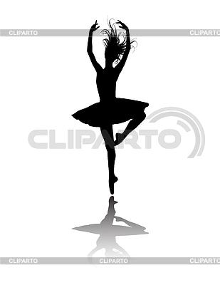 Ballet dancer silhouette   Stock Vector Graphics  ID 3219312
