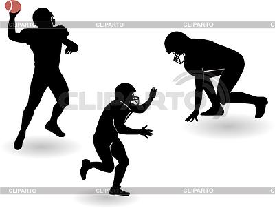 Американский футбол - набор силуэтов | Векторный клипарт |ID 3219408