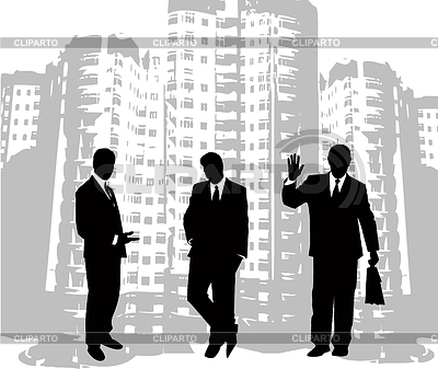 Businessmen silhouettes | Stock Vector Graphics |ID 3219454