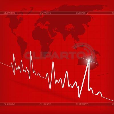 Kardiogramm auf rotem Hintergrund | Stock Vektorgrafik |ID 3341332