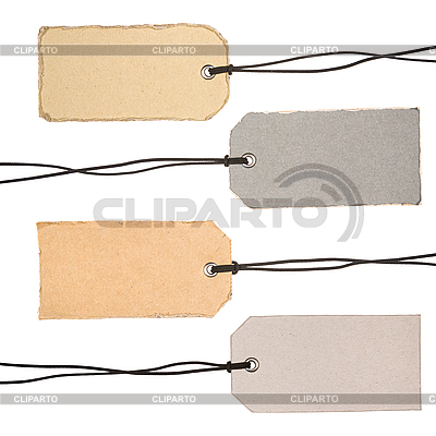 Set of Cardboard Tags | High resolution stock photo |ID 3054284