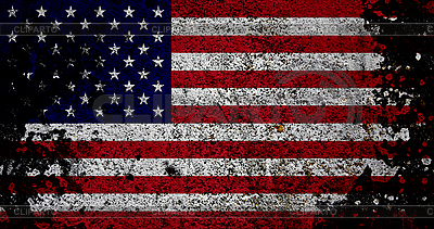 Флаг США в стиле ретро | Фото большого размера |ID 3054430
