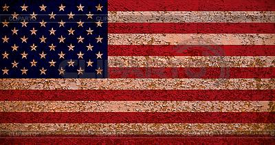 Rusty American Flag | Foto stockowe wysokiej rozdzielczości |ID 3054431