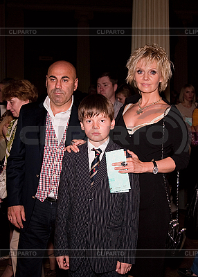 Russian singer Valeriya with family | Foto stockowe wysokiej rozdzielczości |ID 3056720