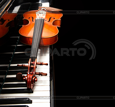 Violin on the piano | High resolution stock photo |ID 3041732