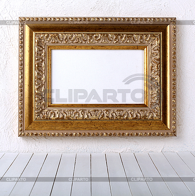 Old picture frame on wall  | High resolution stock photo |ID 3069707