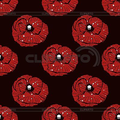 Simple poppy pattern   Stock Vector Graphics  ID 3041780