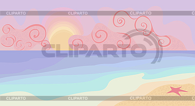 Beach and sunset with pastel colors | Stock Vector Graphics |ID 3066409