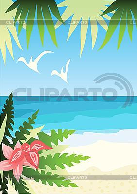Tropischer Strand | Stock Vektorgrafik |ID 3066413