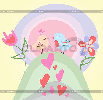 Tiny birds in love | Stock Vector Graphics |ID 3076927