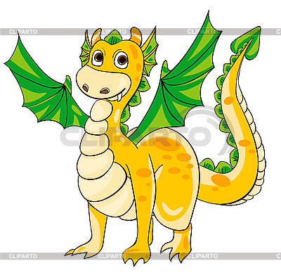 Golden Dragon with green wings   Stock Vector Graphics  ID 3117547