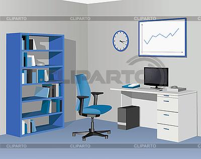Büro in blauen Farben | Stock Vektorgrafik |ID 3205647