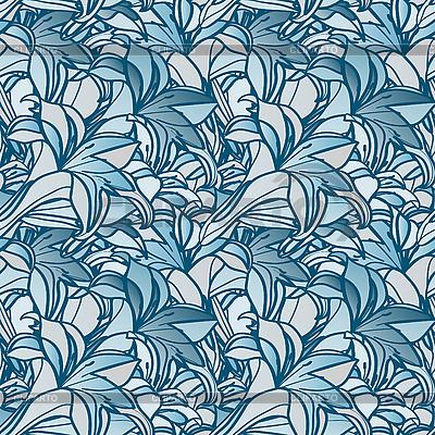 Bez szwu tła z kwiatów lilii | Klipart wektorowy |ID 3042116