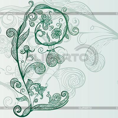 Kwiaty, ślimak, motyl | Klipart wektorowy |ID 3042452