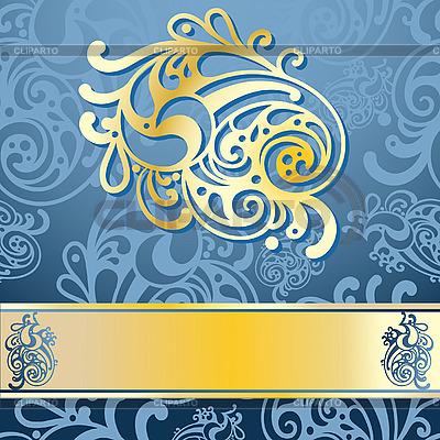 与单一的金色元素的复古图案 | 向量插图 |ID 3042470