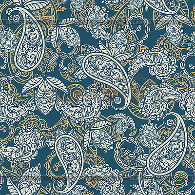 Seamless paisley background | Stock Vector Graphics |ID 3042481