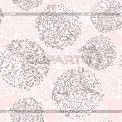 추상 꽃 원활한 패턴 | 벡터 클립 아트 |ID 3042605