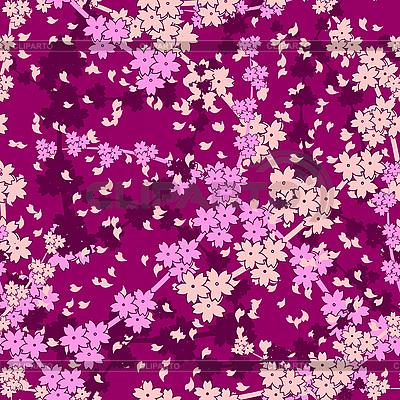 无缝樱花背景   向量插图  ID 3042697