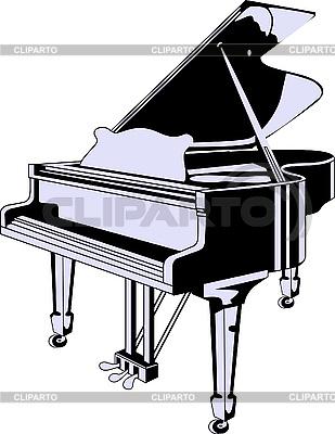 Fortepian skrzydłowy | Klipart wektorowy |ID 3042699