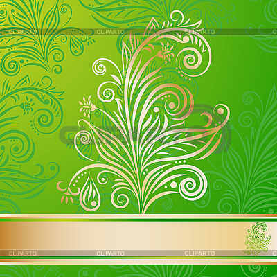 Green floral pattern | Stock Vector Graphics |ID 3044660