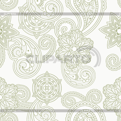 Nahtloser Paisley-Hintergrund | Stock Vektorgrafik |ID 3044785