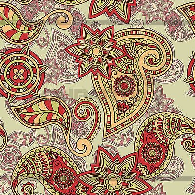 Seamless paisley pattern | Stock Vector Graphics |ID 3044787