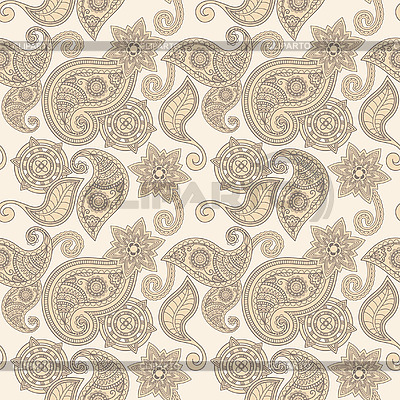Seamless paisley pattern | Stock Vector Graphics |ID 3044789