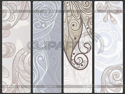 Floral banners with flowers and butterflies | Stock Vector Graphics |ID 3044963