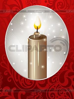 촛불 크리스마스 카드 | 벡터 클립 아트 |ID 3079120