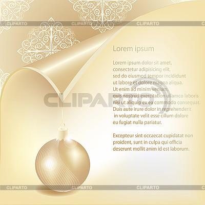Christmas card with ball and snowflakes | Stock Vector Graphics |ID 3079125