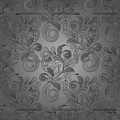 원활한 흑백 꽃 배경 | 벡터 클립 아트 |ID 3079141