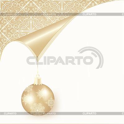 Christmas card with snowflakes and ball   Stock Vector Graphics  ID 3079180