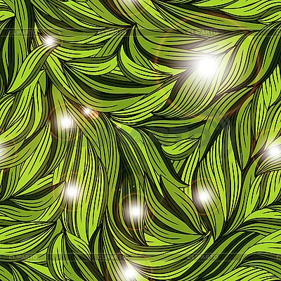 Nahtlose abstraktes Muster mit hellen Blättern | Illustration mit hoher Auflösung |ID 3081069