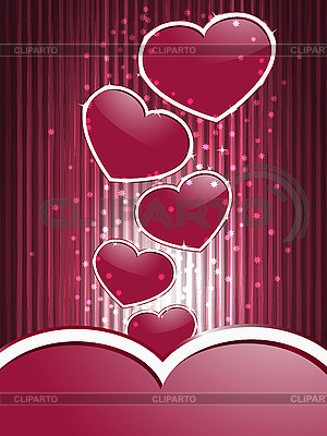 Red hearts and stripes | Stock Vector Graphics |ID 3081093