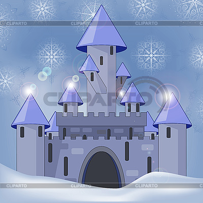 Castle in winter at night | Stock Vector Graphics |ID 3081095