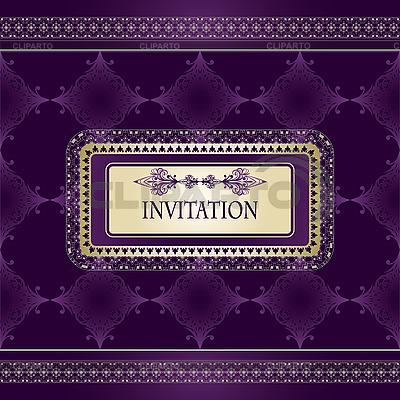 모양의 프레임 초대장 빈티지 패턴 | 벡터 클립 아트 |ID 3094981