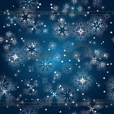 Seamless winter background with snowflakes | Stock Vector Graphics |ID 3094986