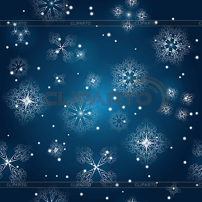 Seamless winter background with snowflakes   Stock Vector Graphics  ID 3094997