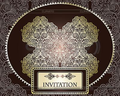 Szablon zaproszenie na szwu   Klipart wektorowy  ID 3112140